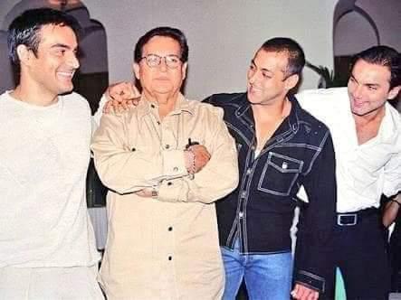 سلمان خان ووالده وشقيقه