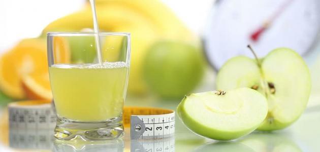 عصير التفاح للتنحيف