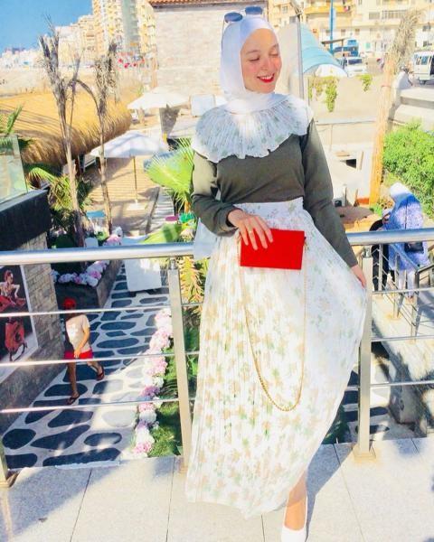 تنسيق التنورات في الصيف مع الحجاب