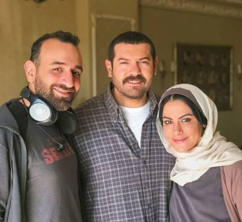 صبا مبارك وعمرو يوسف والمخرج عمرو سلامة