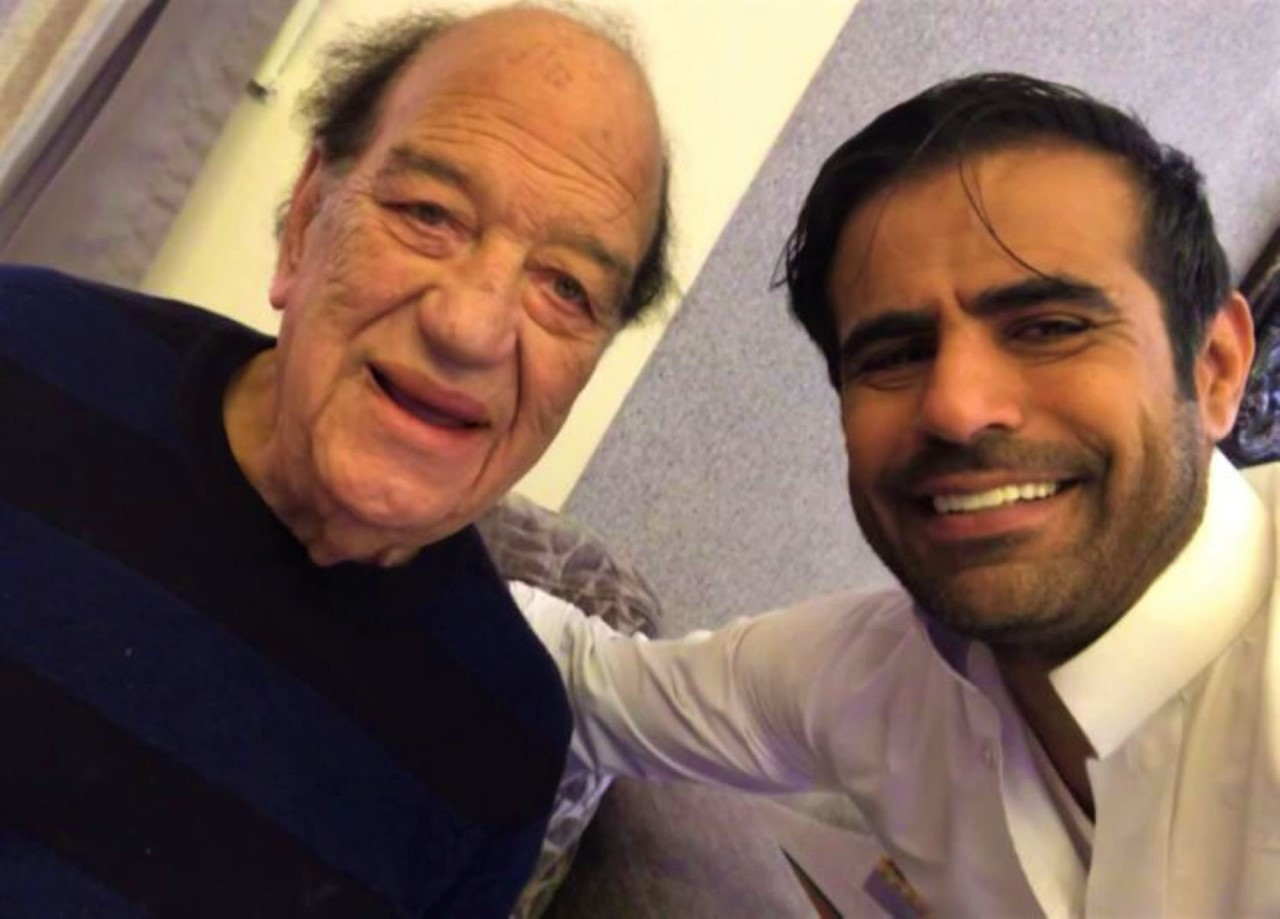 عبدالعزيز الفريحي وحسن حسني في كواليس العمل