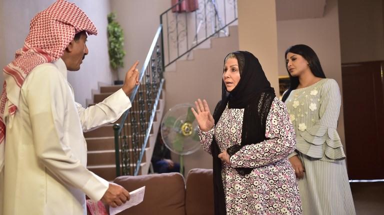 ريم عبدالله وليلی السلمان وناصر القصبي من مسلسل «العاصوف»
