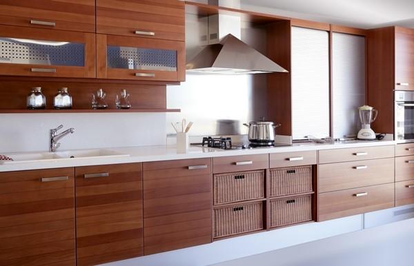 تنظيف خزائن المطبخ الخشبية