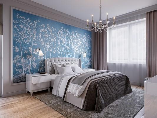 ورق الجدران في غرف النوم