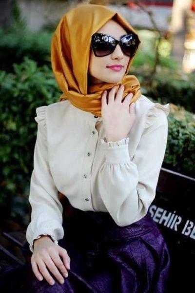 حجاب مع الربطة من الخلف