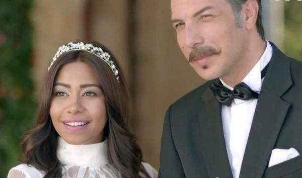 شيرين إلى جانب الممثل باسل خياط