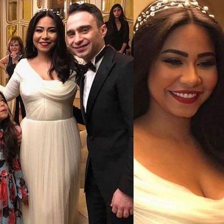 إطلالة شيرين عبد الزهاب بثوب الزفاف