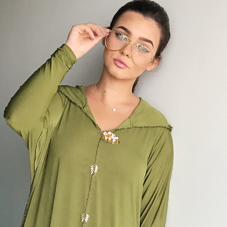 دينا بالجلباب المغربي