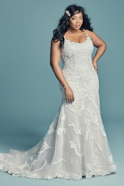 فستان زفاف للسمينات