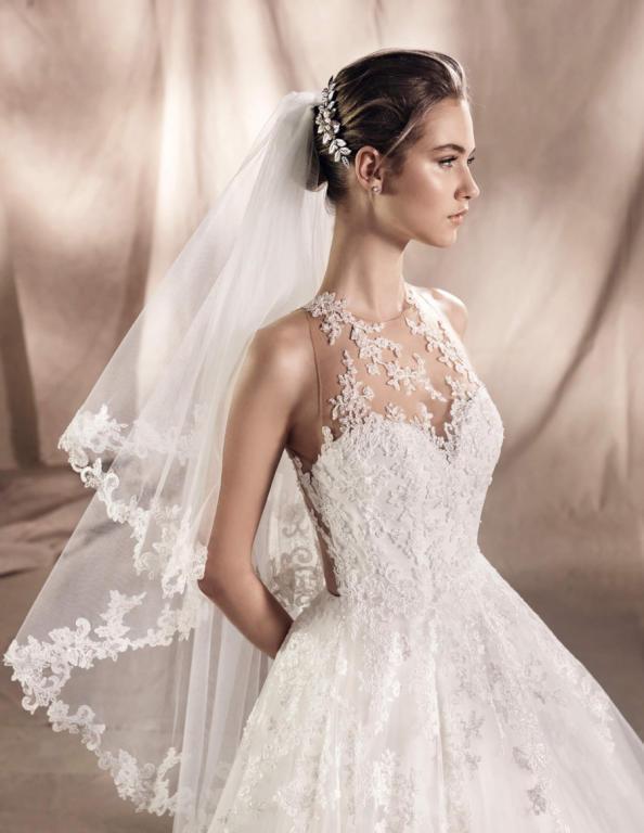 طرحة العروس الخليجية تزيدها أناقة وجمال ا يوم زفافها مجلة سيدتي
