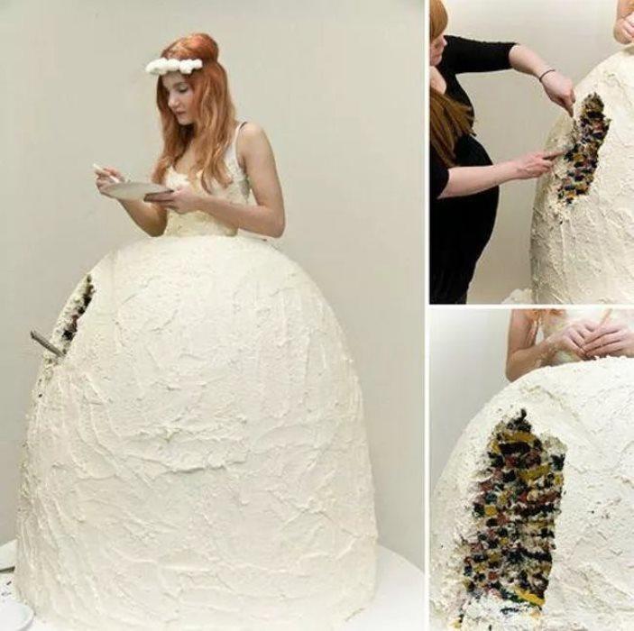 فستان الكعكة