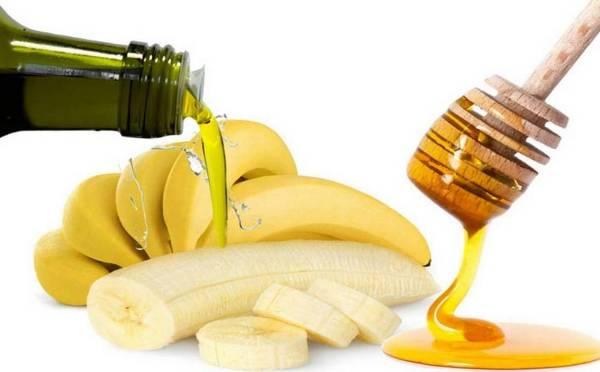 خلطة الموز وزيت الزيتون والعسل