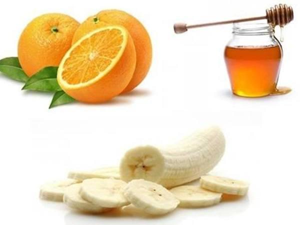 قناع البرتقال والموز والعسل