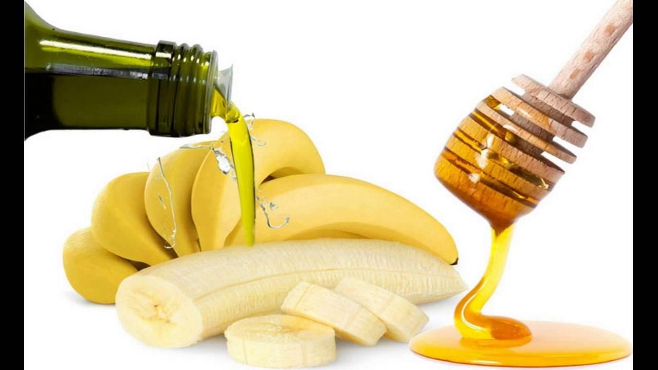 الموز وزيت الزيتون مع العسل