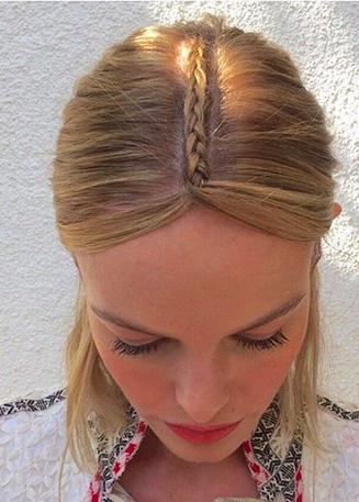 ضفيرة شعر الغرة النصفية