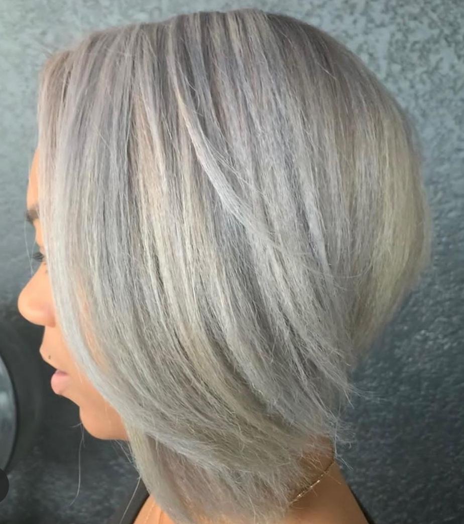 Graue Haare blond Studie