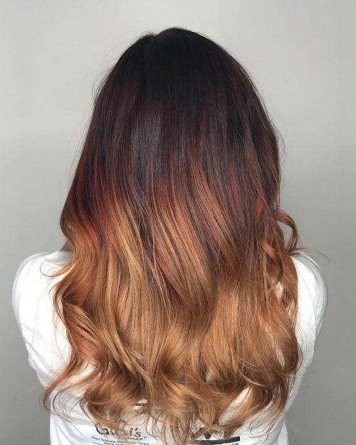 لون الشعر الأومبري