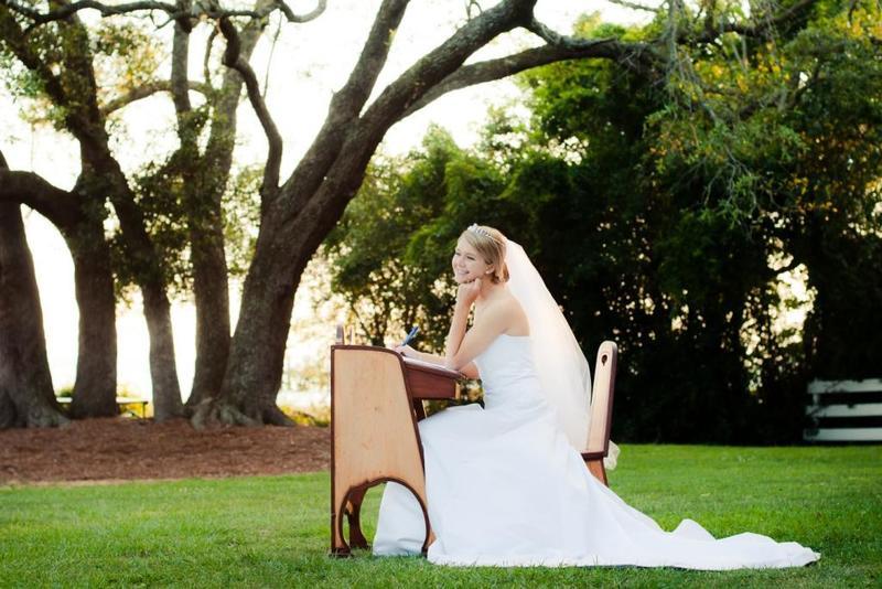 حفل زفاف في حديقة المنزل