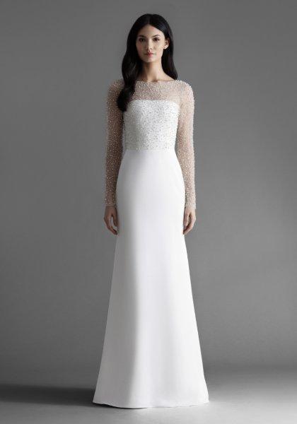 فستان زفاف منقّط بفصوص برّاقة