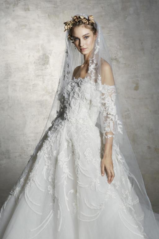 طرحة طويلة للعروس