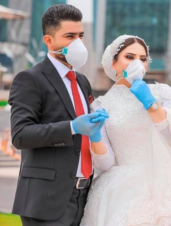 زفاف بزمن الكورونا