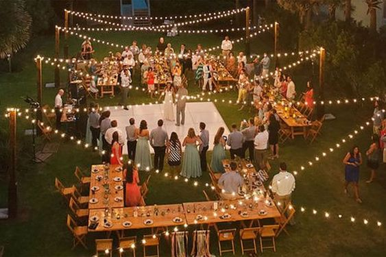 حفل زفاف في المنزل