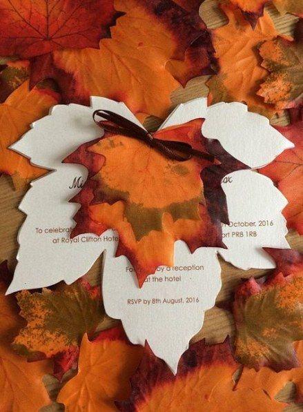 بطاقات زفاف الخريف