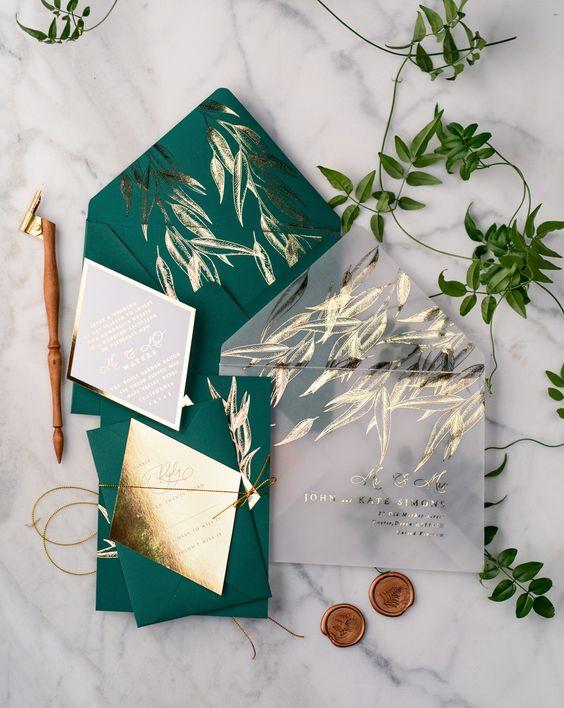 بطاقات زفاف مستوحاة من الطبيعة