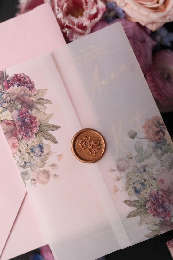 بطاقات زفاف من المخمل