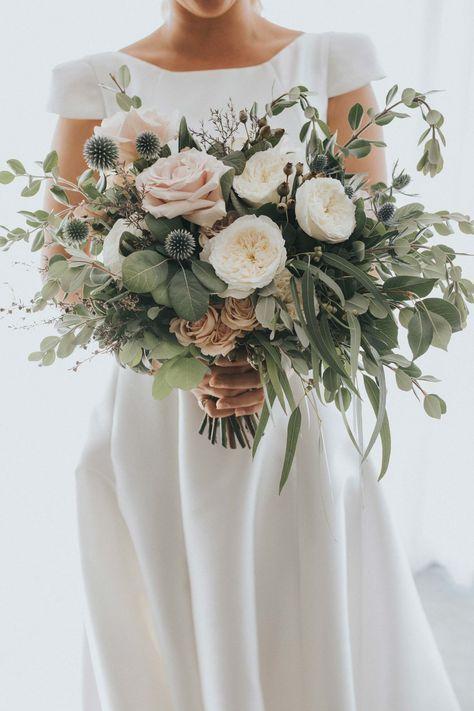 بوكيه عروس بأوراق الأوكالبتوس