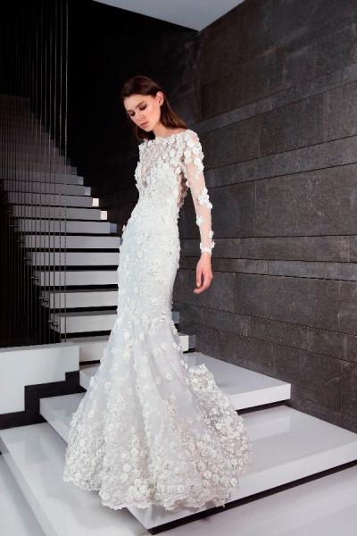 05323fd00f801 أجمل فساتين زفاف 2019 من مصممين عرب