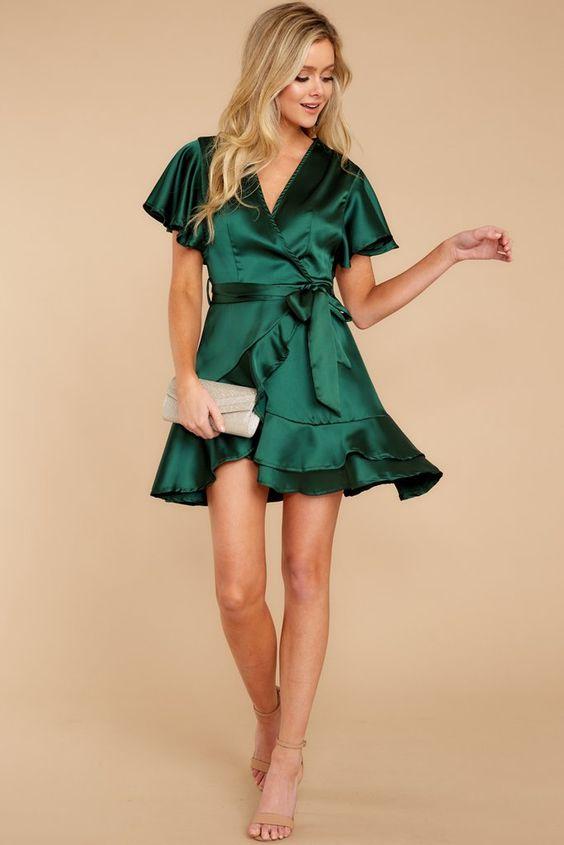 فستان خطوبة قصير