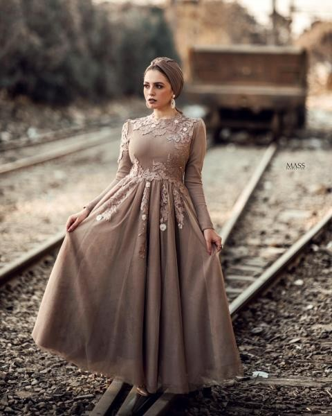فستان مطرز