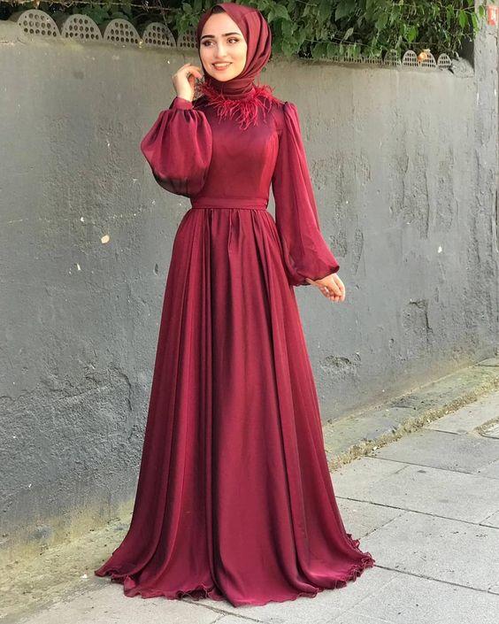 فستان سادة من الساتان