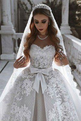 فساتين زفاف بدون أكمام