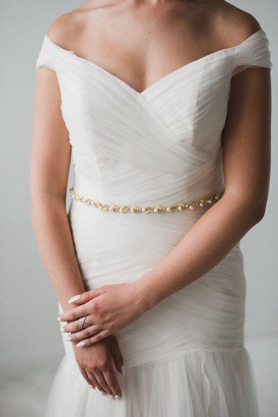 حزام عروس لإطلالة مميزة
