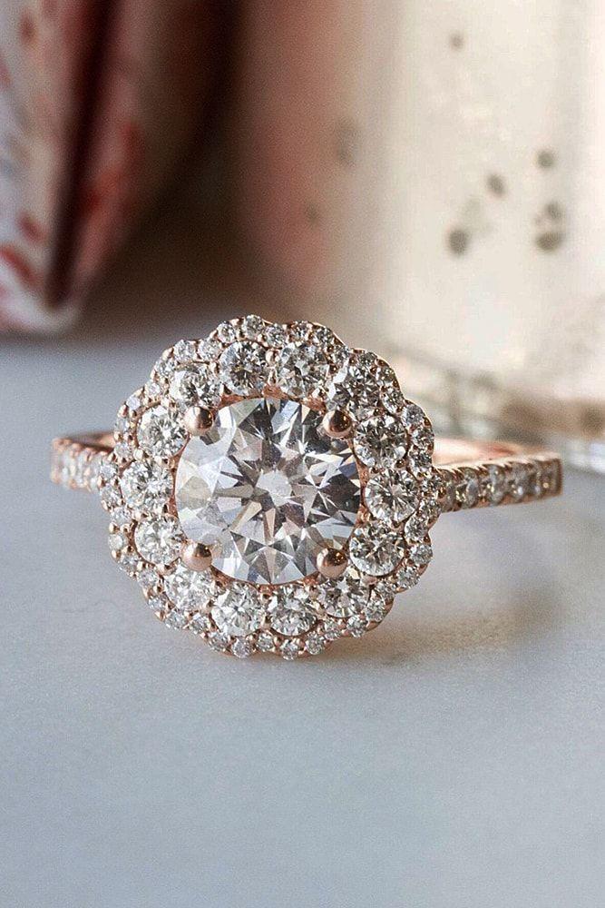 خاتم زفاف على شكل وردة