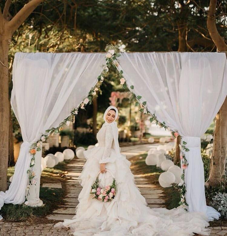 فساتين عروس محجبة