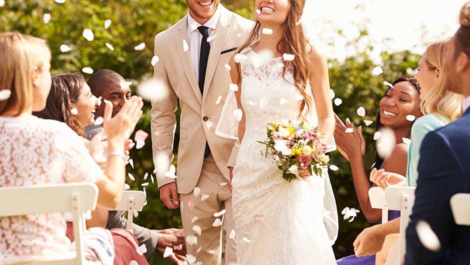تنظيم زفاف صغير