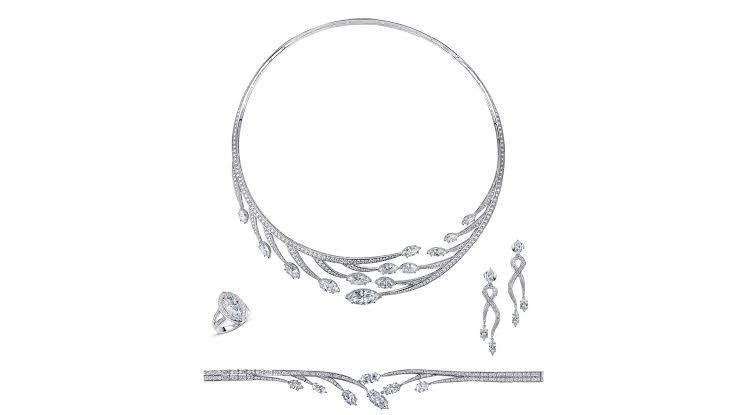 طقم شبكة الماس من دار معوض Mouawad