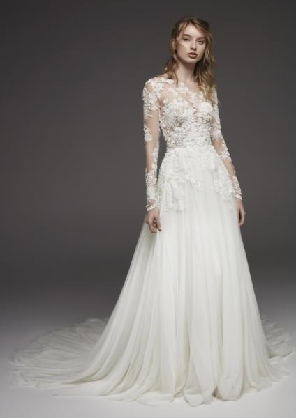 فساتين زفاف شيفون