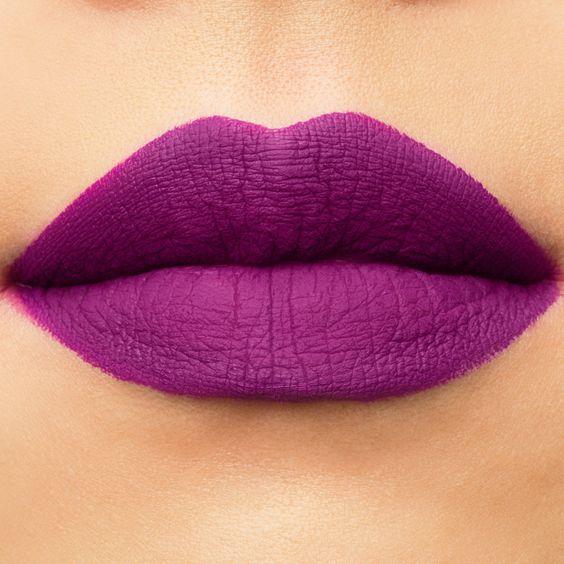 لون روج باللون البنفسجي