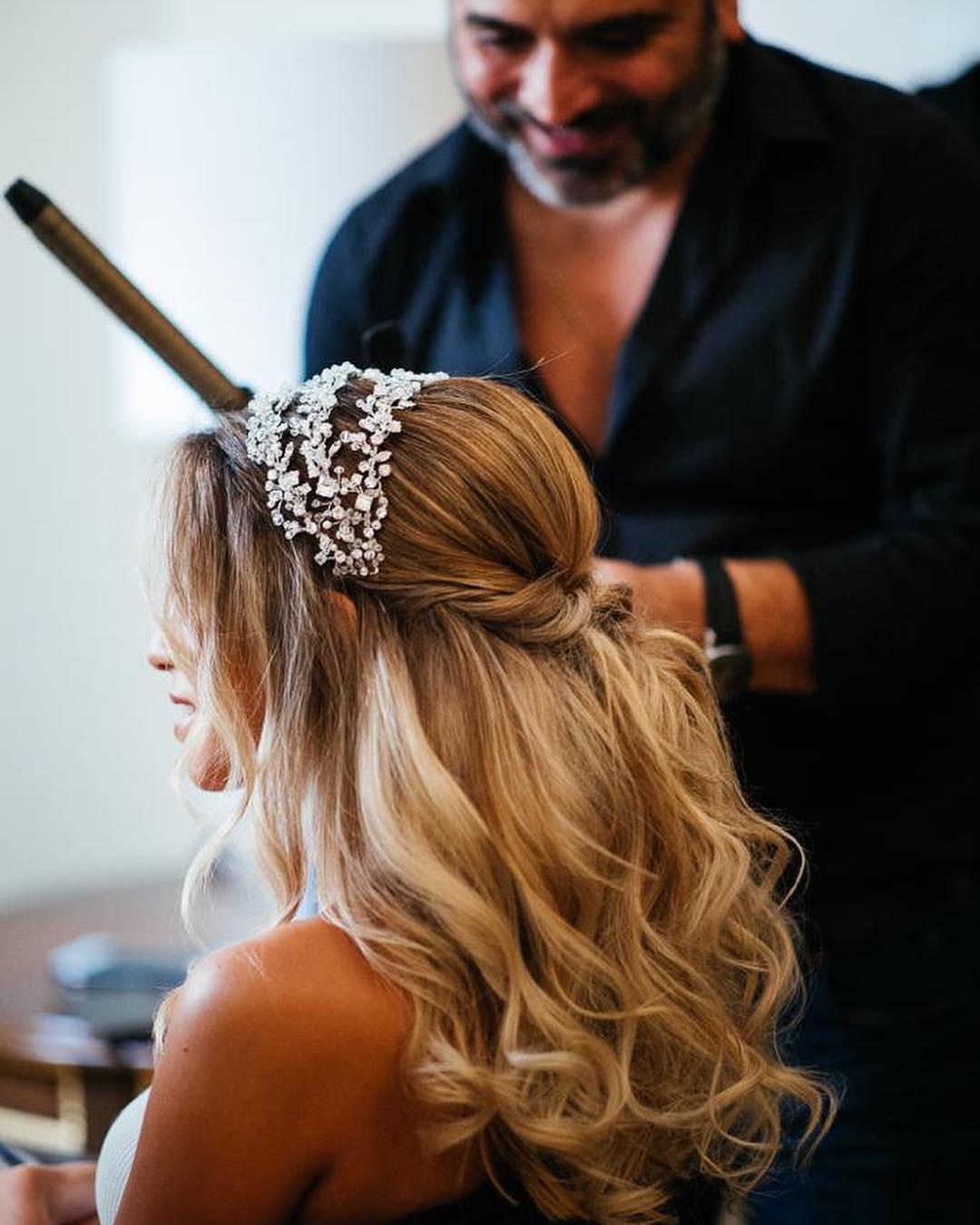تسريحات شعر عروس 2019