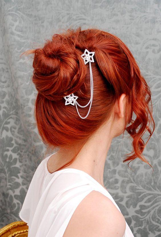 صبغة شعر باللون الكستنائي الأحمر