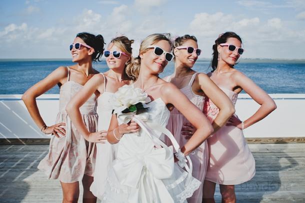 نظارات شمسية للعروس لحفلات الزفاف المفتوحة