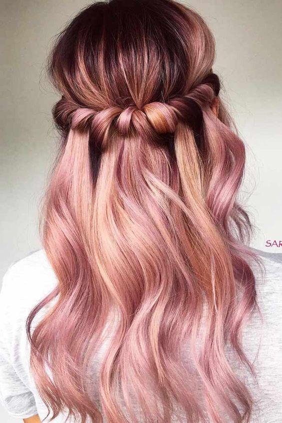 صبغة شعر باللون الأحمر البنفسجي للشعر الأشقر