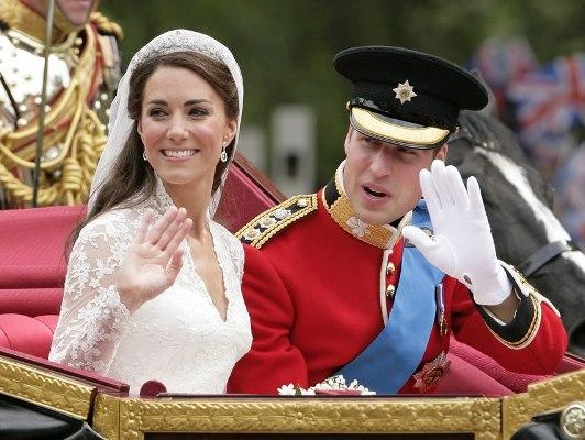 الأمير ويليام  في يوم زفافه