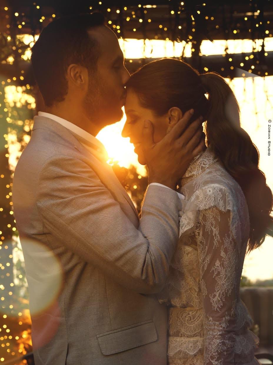 العروس كارلا حداد ووائل قسيس