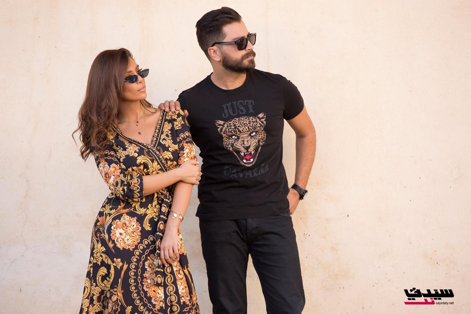 لين مع زوجها معتصم
