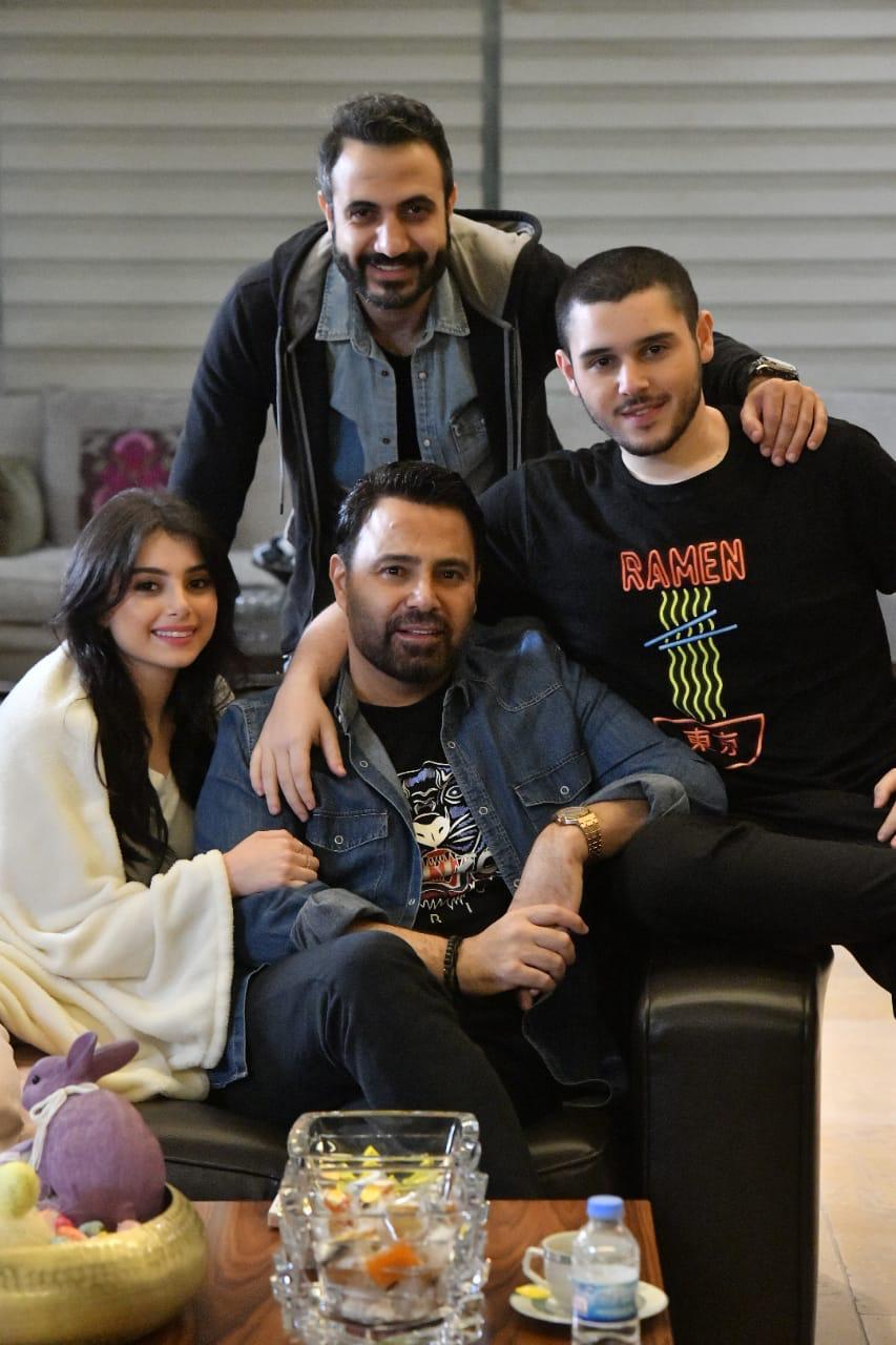 أحمد مع عاصي وماريتا والوليد